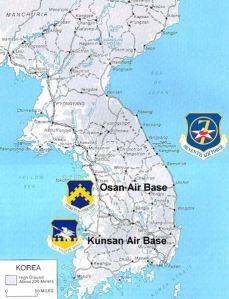 Korean map, 7th Air Force
