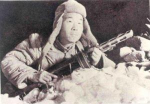 CCF soldier in the snow w/ a Soviet burp gun