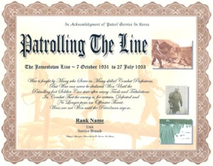 Recognition document, Jamestown Line