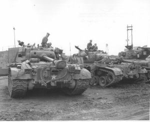 Pershing & Sherman tanks of the 73rd Heavy Tank Battalion, Korea
