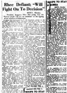 Copy of actual article, Canberra Times, 9 June 1953