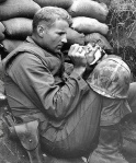 Marine in Korea w/ kitten, courtesy of NJBiblio.com