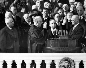 Eisenhower sworn in as President