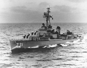 USS Maddox (DD-731) in Korea