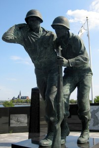 Liberty Park statue for Korean War veterans