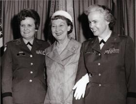 Hays and Mamie Eisenhower at the promotion ceremony