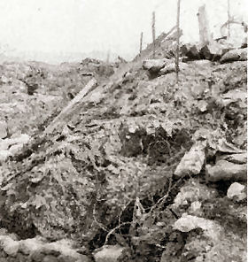 2RAR trench collapses after bombardment