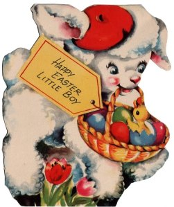 A child's Easter card from the '50s