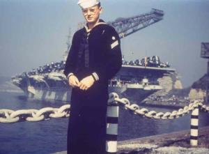 Curtis in Japan (unknown carrier in background)