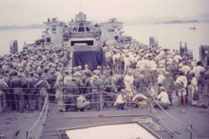 Prisoners aboard the LST 1090