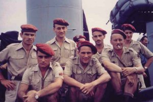 French paratroopers evacuated from North Vietnam
