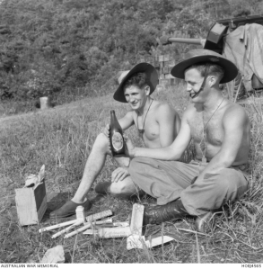 Sgt. Brian Cooper & Cpl. Ron Walker  on Hill 111 just after the armistice