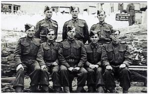 X-Troop, George Lane is standing, back row center