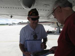 Pilot Ed Kaminski, still at work