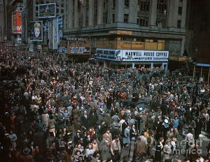 New York City on V-E Day, 1945