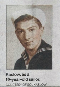 19 year old sailor, Sol Kaslow