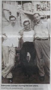 John Edmunds, (center), during the war years