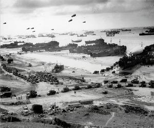 D-Day landing scene