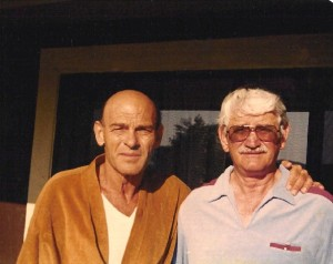 Burr Smith (L) & Bob Rader (R) , 1982 just prior to Smith's passing.