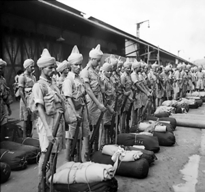 Indian Commonwealth troops arrive at Singapore, Nov.'41