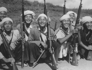 Men of Burma who signed up.