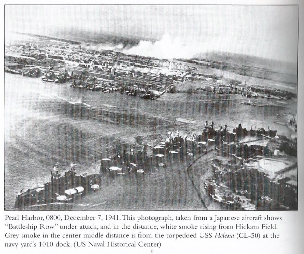 Pearl Harbor view from a Japanese fighter