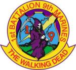 The 1/9 Marine insignia The Walking Dead