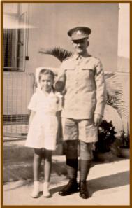 A.V Skvorzov joined HKVDC, with daughter Luba Estes wearing school uniform c. 1939