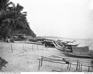 Bachok Beach, Kota Bharu, Malaya.  Japanese landing point.