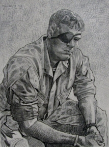 """Wounded Warrior"" painting by U.S. Marine Michael Fay"