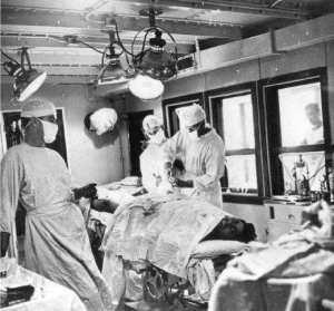 Surgery aboard ship