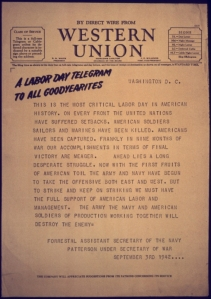 Western Union, Labor Day, 1942