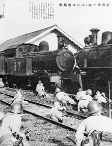 Japanese troops in Johore, Malaya