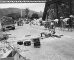 Royal Engineers prepare to blow a bridge at Kuala Lampur