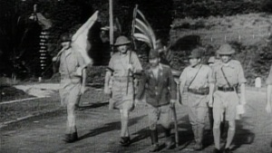 The staged Singapore surrender.