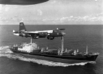 US Navy P-24 Neptune of VP-18 over Russian ship w/ II-28s crated on deck