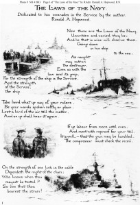 "Beginning of ""The Laws of the Navy"""
