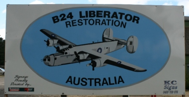 B-24 Liberator Restoration Fund welcome sign Werribee Vic Australia