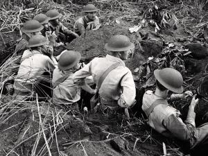 Luzon trenches; taken by: Carl Mydans
