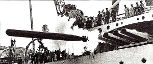 Japanese Long Lance torpedo being fired