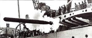 Japanese Long Lance torpedo being fired