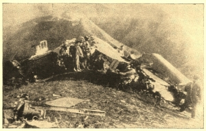 one of the bombers that crashed in China