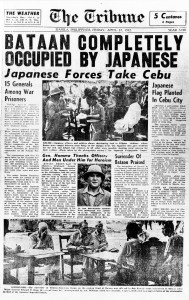 As the Japanes invaded, they took over the newspapers and portrayed themselves as peaceful liberators.