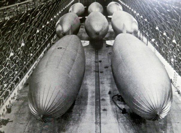 Eight blimps called this hangar in Tillamook, Oregon home during World War II. (Photo at Tillamook Air Museum.)