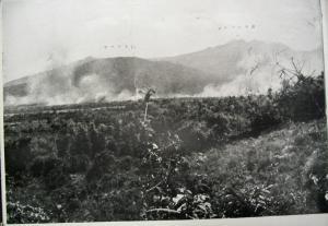 Mount Samat, (on left), 1942