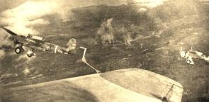 Mitsubushi - Ki 30s over Bataan front line