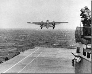 Taking off from the USS Hornet