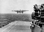 leaving the USS Hornet