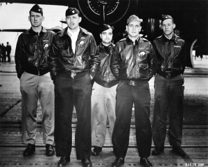 Pilot 1st Lt. Ted Lawson; Co-Pilot 2nd Lt. Dean Davenport; Navigator 2nd Lt. Charles McClure; Bombardier 2nd Lt. Robert Clever; Engineer/Gunner Sgt. David Thatcher