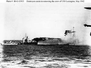 destroyers assisting Lexington